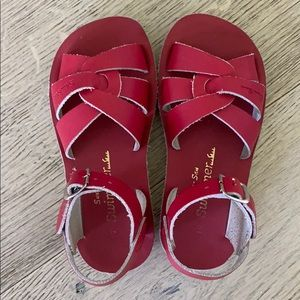 Sun San red sandals size 10